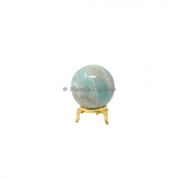 Amazonite Crystals Sphere With Brass Stand