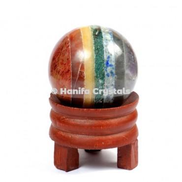 Bonded Seven Chakra Gemstone Sphere