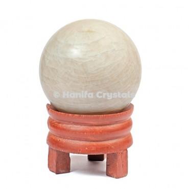 Cream Moonstone Gemstone Sphere