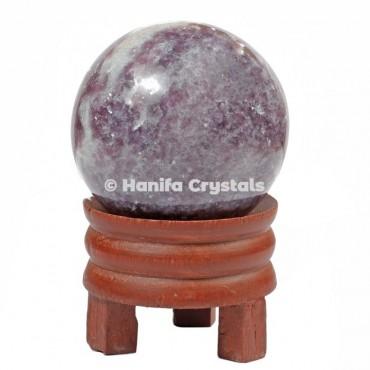 Lepidolite Gemstone Sphere