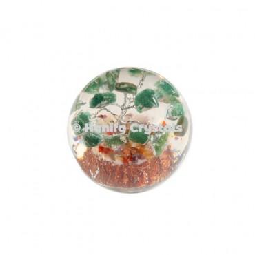 Green Aventurine Stones in Orgone Sphere