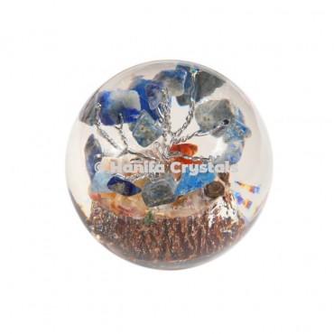 Lapis Lazuli Stones in Orgone Sphere