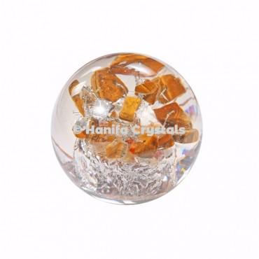Tiger Eye Stones in Orgone Sphere