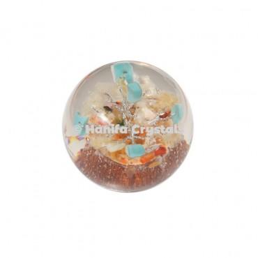 Mix Stones Tree in Orgone Sphere