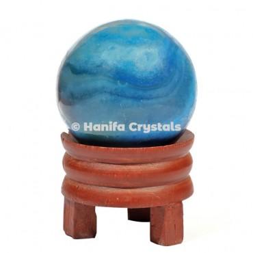 Blue Onyx Gemstone Sphere