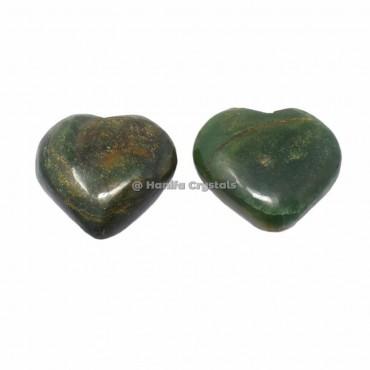 Green Mica Puffy Hearts