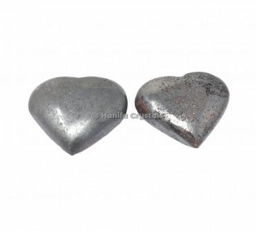 Hematite Puffy Hearts