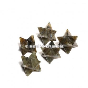Labrodrite Merkaba Stars