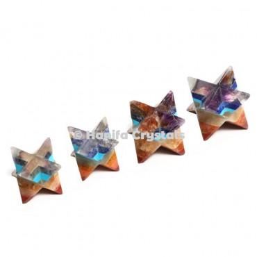 Seven Chakra Bonded Merkaba Stars