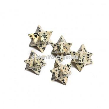 Dalmation Stone Merkaba Stars