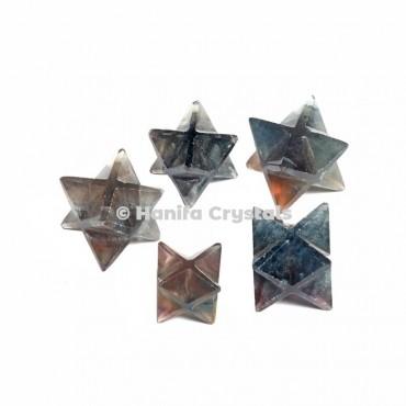 Multi Fluorite Merkaba Stars