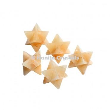 Golden Quartz Merkaba Stars