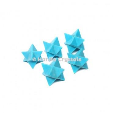 Turquoise Merkaba Stars