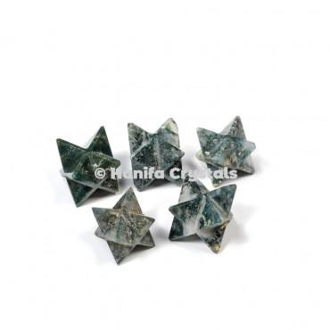 Tree Agate Merkaba Stars