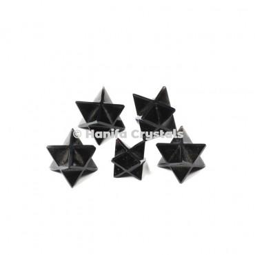 Black Jasper Merkaba Stars