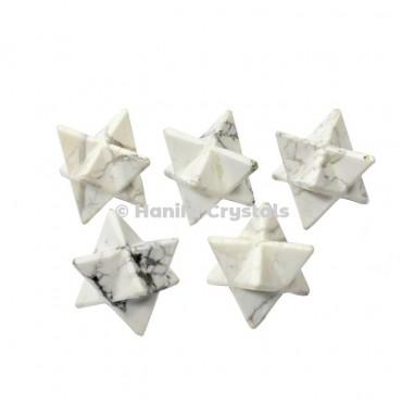 Howlite Merkaba Stars
