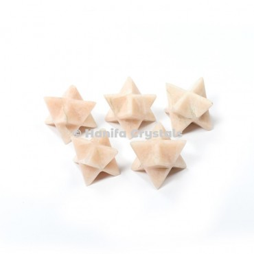 Cream Moonstone Merkaba Stars