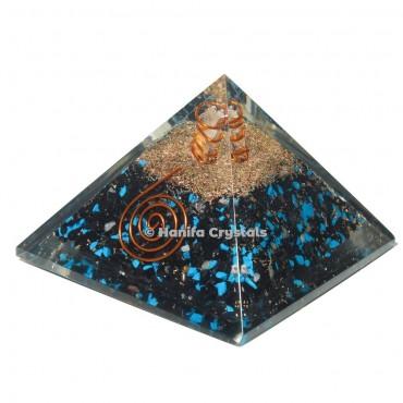 Black Obsidian Healing Orgonite Emf Protection Pyramid