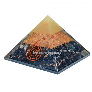 Black Tourmaline Healing Orgonite Emf Protection Pyramid