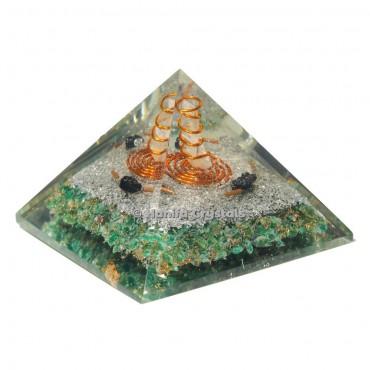 Green Aventurine Healing Orgonite Emf Protection Pyramid