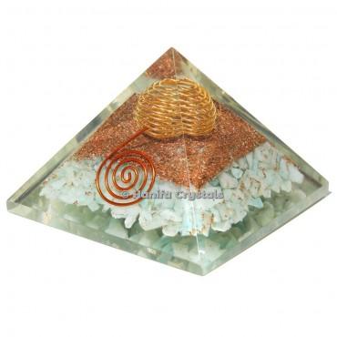 Amazonite Orgonite Healing Pyramid