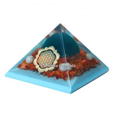 Red Carnelian Orgonite Healing Pyramid