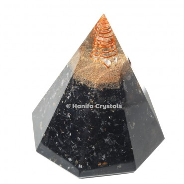 Black Tourmaline Orgonite Conical Pyramid