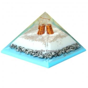 Crystal point Orgonite Healing Pyramid