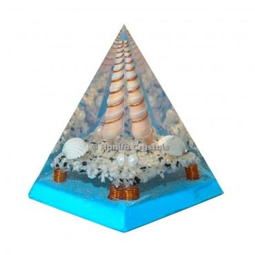White Rainbow Orgonite Healing Pyramid