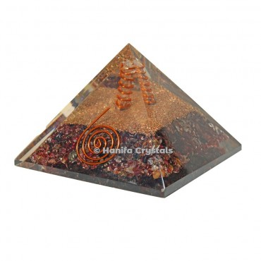 Garnet Healing Orgonite Pyramid