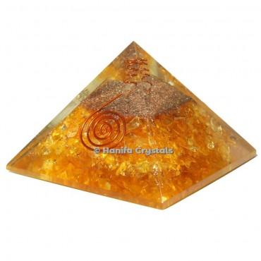 Citrine Orgonite Healing Pyramid