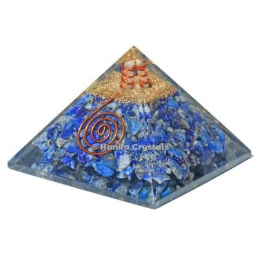 Lapis Lazuli Healing Orgonite Emf Protect Pyramid