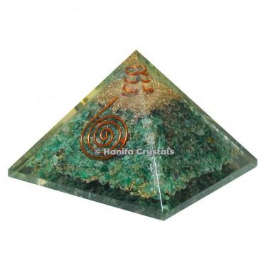Dark Green Aventurine Orgonite Emf Protect Healing Pyramid