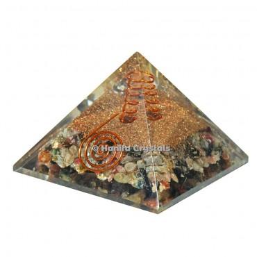 Multi Tourmaline Orgonite Emf Protect Healing Pyramid