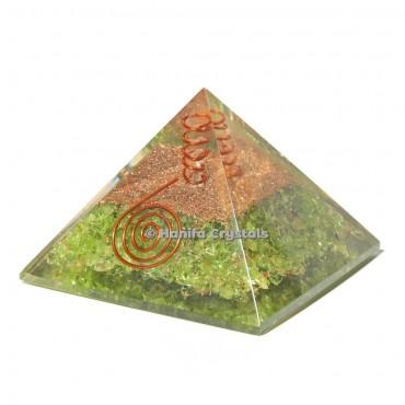 Peridot Orgonite Emf Protect Healing Pyramid