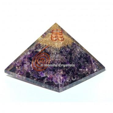 Amethyst Orgonite Emf Protect Healing Pyramid