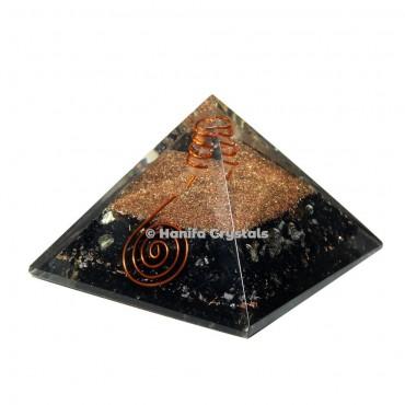Black Obsidian Orgonite Emf Protect Healing Pyramid