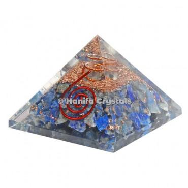Lapis Lazuli Orgonite Pyramids