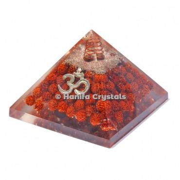 Rudraksha With Om Orgonite Pyramids