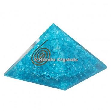 Aquamarine Orgonite Pyramids