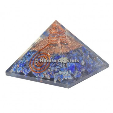 Lapis Lazuli With Crystal Point Orgonite Pyramids