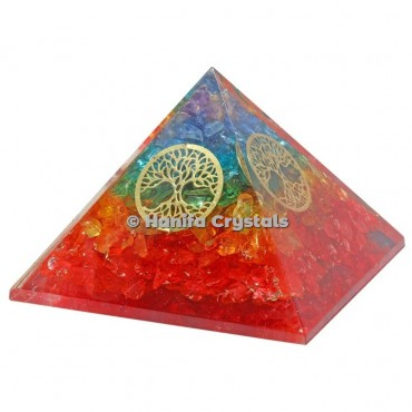 7 Chakra Layer Tree Of Life Orgonite Pyramids