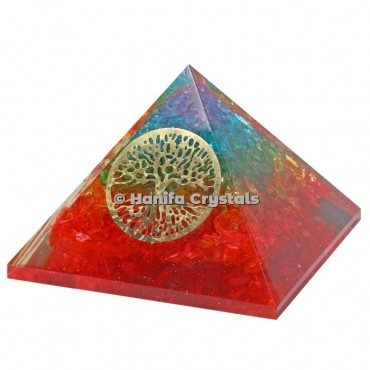Tree Of Life Chakra Orgonite Pyramids