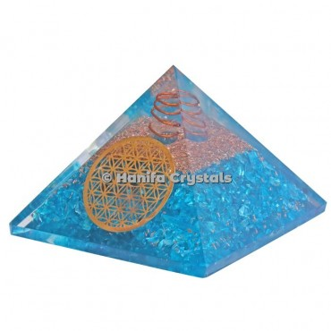 Flower Of Life Orgonite Pyramids