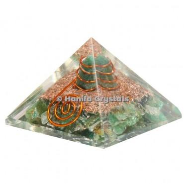 Green Aventurine Orgonite Pyramids