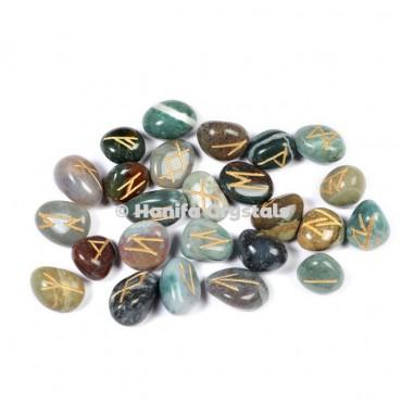 Mix Fancy Agate Rune Sets