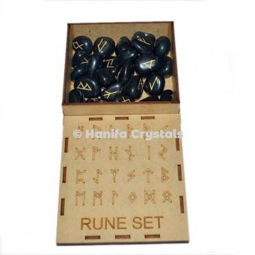 Black Tourmaline Rune Sets with box