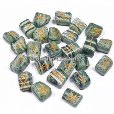 Green Zebra Jasper Rune Sets
