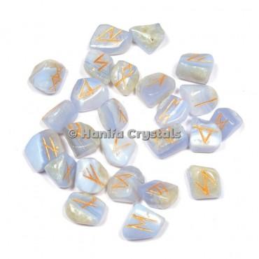 Blue Lace Agate Rune Sets