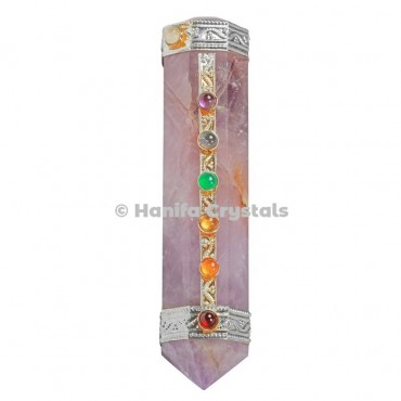 Amethyst with Seven Chakra Healing Wands
